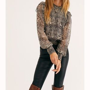 Free People Roma Blouse NWT